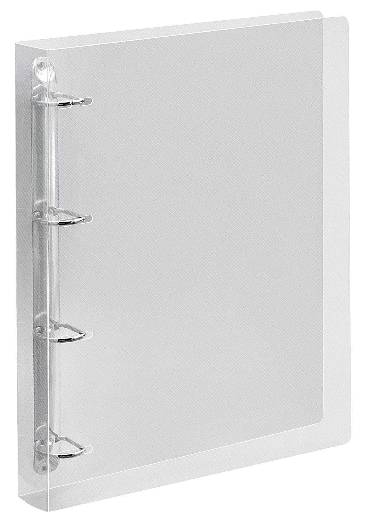 veloflex ringbuch crystal din a4 pp vollkunststoff 4 d ring mechanik 25 mm transparent. Black Bedroom Furniture Sets. Home Design Ideas